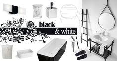 MOODBOARD - Black&White Bathroon design | @lineabeta @bisazzaaus @bisazzausa @rifradesign @villeroyandboch @ceramicaglobo