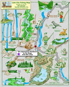 Arkansas River Headwaters Fishing Map, CO, Colorado Vacation ...