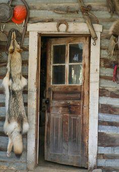 Cabin door in Wiseman, Alaska.