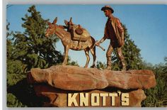 Miner and mule from Knott's Berry Farm, Buena Park, CA