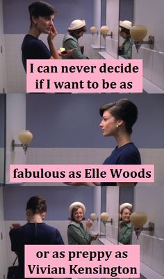 I can never decide if I want to be as fabulous as Elle Woods or as preppy as Vivian Kensington. #Greek #Sorority #LegallyBlonde