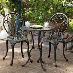 Small Outdoor Patio Table And Chairs Portable Fabric High Chair Looking For A Bistro Set The Deck That Won T Rust I Think Best Selling Home Decor Dining 232239 Thomas 3 Piece
