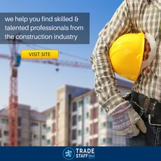At TradeStaffDirect, we help you find skilled and talented professionals from the construction industry. And at our website we do not bother you with complicated procedures in registering with us or for maintaining your profile. It is a matter of a few quick and easy steps. So register with us today and get ready to meet the right candidate for your company.