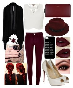 """A day out"" by musicmelody1 on Polyvore featuring Sans Souci, River Island, Lipsy, Christian Louboutin, Paul Smith, Rick Owens and Jack Vartanian"