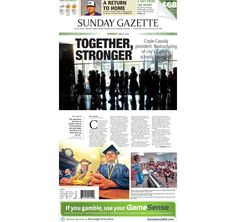 The front page of the Taunton Daily Gazette for Sunday, June 21, 2015.