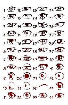 Drawing Realistic Drawing Pencil Portraits - these are anime eyes. I always seem to have trouble at drawing eyes for some reason, so I may have to refer back to this one. :-) Discover The Secrets Of Drawing Realistic Pencil Portraits Drawing Poses, Drawing Tips, Drawing Reference, Drawing Ideas, Drawing Techniques, Manga Drawing Tutorials, Drawing Drawing, Pose Reference, Learn Drawing
