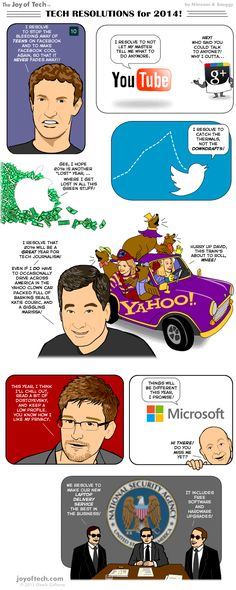 In this comic, Nitrozac and Snaggy of 'The Joy of Tech' offer some resolutions for tech bigwigs to aim for in Social Media Humor, Social Media Marketing Companies, Social Media Services, Online Marketing, Digital Marketing, Tech Companies, Social Networks, Professional Seo Services, Most Popular Social Media