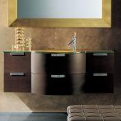 "Archeda 8 55"" Wenge Vanity With Mirror"