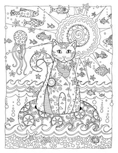 Creative Cats Colouring Book Feline O Fish By Marjorie Sarnat