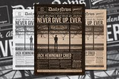 Vintage Newspaper Flyer Template by Yusof Mining on Creative Market