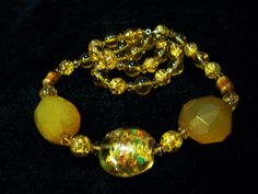 ONE OF A KIND Amber Glass Necklace by Dare2beUNIQUE