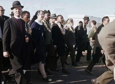 FILE - In this March 1965 file photo, Martin Luther King, center, leads a march from Selma to Montgo... - AP Photo/File