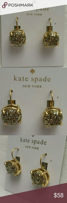 Kate Spade NWT Gold Sparkled Earrings Kate Spade NWT Gold Sparkled Earrings Kate Spade Jewelry Earrings
