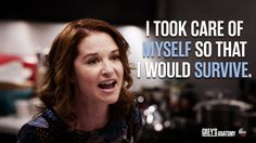 """""""I recognized the spiral that I was falling into. I took care of myself so that I would survive"""" -April Kepner to Jackson Avery, Grey's Anatomy quotes Greys Anatomy April, Greys Anatomy Memes, Soulmate Love Quotes, S Quote, Best Grey's Anatomy Quotes, Im Tired Quotes, Merideth Grey, April Kepner, Jackson Avery"""