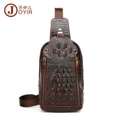74.77$  Buy here - http://alik65.worldwells.pw/go.php?t=32782647652 - Brand Genuine New Men's Chest Top Layer Of Cowhide Crocodile Pattern Business Casual Fashion Trend Male Messenger Bag 2017 Hot