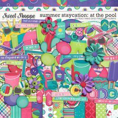 Great colors for summer at the pool!