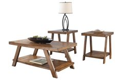 """Using a warm finish and a rich rustic design, the """"Bradley"""" accent table collection creates a functional table collection that perfectly captures the beauty of finely crafted furniture. The gentle aged look of the burnished brown finish beautifully accents the plank detailing to give these tables a warm Old World craftsman feel that is sure to fit comfortably within any home decor."""