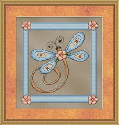 Counted Cross Stitch Pattern Blue Dragonfly INSTANT DOWNLOAD by StitchX on Etsy, $2.95