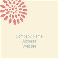 Free Avery® Templates - Pink Flower Burst Print-to-the-Edge Square Labels, 12 per sheet