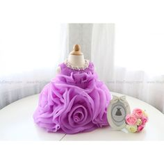 Infant toddler baby children kids girl s pageant evening prom dress