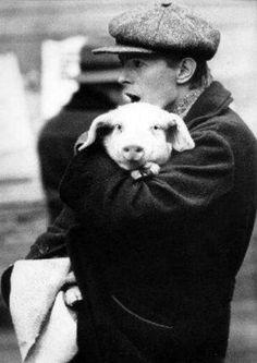 David Bowie with a friend