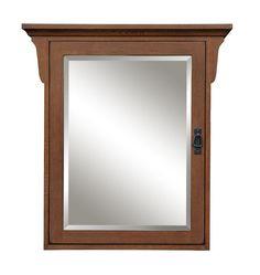 "Sunny Wood MO3032M Mission Oak 30"" Single Door Medicine Cabinet Craftsman Bathroom Storage Medicine Cabinets Wood"