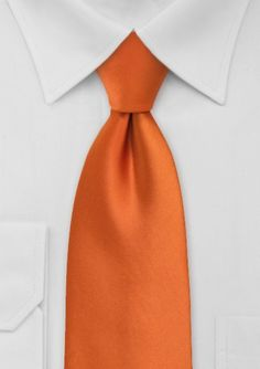 Color Naranja - Orange!!! Solid Tie in Persimmon Orange