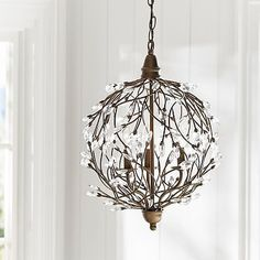 Romantic Sphere Chandelier. This looks like something out of LOTR or TH!