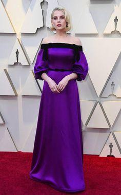 Lucy Boynton wearing a Rodarte gown at the 2019 Oscars. Jennifer Hudson, Jennifer Lopez, Helen Mirren, Alexander Mcqueen, Emma Stone, Charlize Theron, Irina Shayk, Tom Ford, Celebrity Dresses