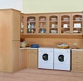 Now that's what I call Heaven--An organized and convenient laundry room. Everything has it's place!