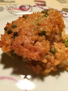 Gratin de riz à la tomate et petits pois - La Conque d'Or Risotto, Nutrition, Four, Vegetables, Lunch Ideas, Cooking, Ethnic Recipes, Gluten, Veggie Bake