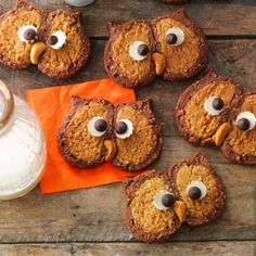 Owl Cookies Recipe -I came up with these cookies as a treat for my kids class parties. Not only do they look cute but they are also delicious.—Starrlette Howard, Ogden, Utah