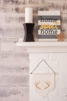 Make an adorable 'Home sweet home' canvas in just a few easy steps!