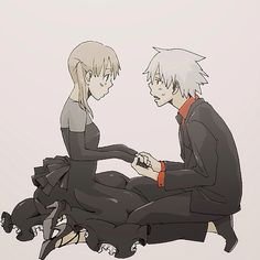 "Fan art of Maka Albarn × Soul Eater Evans from ""Soul Eater"" by Atsushi Ōkubo 