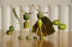 Идеи поделок для дома из каштанов, желудей, шишек, колосков и других осенних даров природы (28 фото)   Дары природы   DecorWind.ru