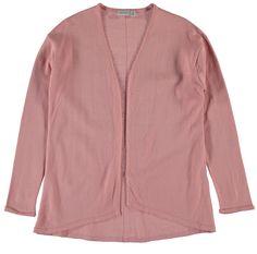 Meisjes cardigan NITEMEKKO van het merk Name-it. Roze (Rose tan) cardigan / overgooier zonder sluiting. Het is een effen cardigan voorzien voor lente / zomer.