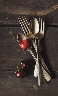 silver cutlery still life
