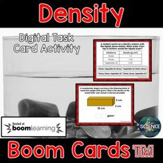 Density Task Cards - Distance Learning Compatible Digital Boom Cards™ Science Lessons, Science Activities, Classroom Setup, Middle School Science, Teaching Strategies, Creative Teaching, Task Cards, Distance, About Me Blog