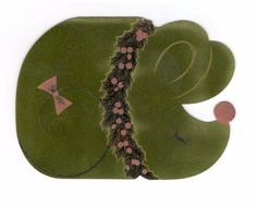 Vintage 1970's Nu-Art Christmas Greeting Card Felt & Foil Sleeping Mouse | Collectibles, Paper, Vintage Greeting Cards | eBay!