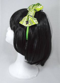 Bow. Headband bow. Green headdress bow. Elegant bow. Wedding