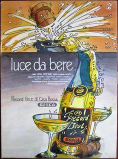 Vintage Poster mock-up | #bosca #sparkling #wine advert | #light to #drink