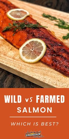 The difference between wild and farmed salmon made simple! Find out with these delicious salmon recipes #Salmon #HealthyGrill Summer Grilling Recipes, Healthy Grilling, Grilling Tips, Delicious Salmon Recipes, Grilled Salmon Recipes, Pacific Salmon, Atlantic Salmon, Seafood Recipes, Grill Recipes