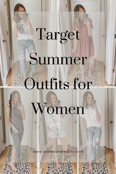 I'm sharing all of the best Target outfits spring 2020 and Target outfits summer. Target has some seriously cute summer outfits this year. You'll find my favorite summer dress, along with lots of casual summer outfits, and lounge wear and loungewear outfits. This year summer fashion is all about jean shorts, easy breezy outfits, casual dresses, and comfy outfits and Target executes all of this perfectly. Click through to find all of your Target must-haves. #casualoutfits #dress #loungewear