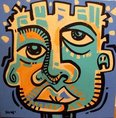 Title: SPEAK  30x30 Acrylic painting on canvas by artist Steve Green