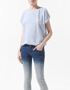FALSE POCKET T-SHIRT - T-shirts - Woman - ZARA
