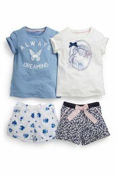 Comprar Azul Curto Pijama Two Pack (3-16yrs) a partir da próxima loja online Reino Unido