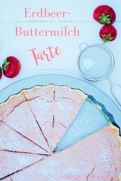 Wenn du Yoghurette magst, dann musst du diese Erdbeer-Buttermilch Tarte probieren! Sie ist herrlich licht und frisch und schmeckt am besten aus dem Kühlschrank. Perfekter Sommerkuchen!