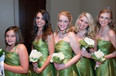 AK Brides - Wedding Planning Services- Ak bridesmaids in apple green.. Thank you Anita Maniscalco of InWhite Wedding Photography and Design
