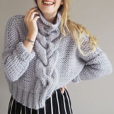 c0424a16148 Cropped Cable Knit Jumper - Knitting Kit