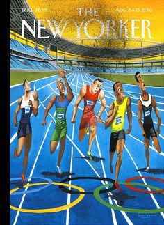 THE NEW YORKER Magazine August 8 - 15, 2016 - Summer Games - by Mark Ulriksen